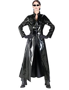 Sexy The Matrix Unisex Black PU Leather Halloween Costumes