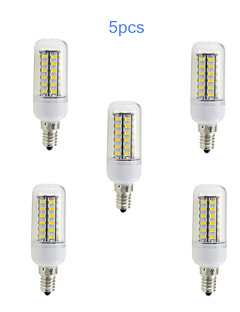 5pcs E14 10W 48x5730SMD 1000LM Light LED Corn Bulb (220V)