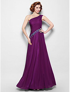 A-line Plus Sizes / Petite Mother of the Bride Dress - Grape Floor-length Sleeveless Chiffon