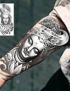 Tatuajes Adhesivos - Non Toxic/Parte Lumbar/Waterproof - Otros - Niños/Mujer/Hombre/Adulto/Juventud - Gris/Negro - Papel - 1 - 12*19cm (4.7*7.5in) -