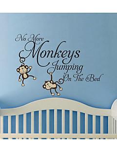 wall stickers ikke flere aber hoppe på sengen kids Vægoverføringsbillede