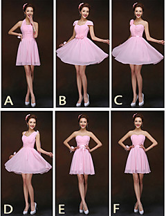 Mix & Match Dresses Short/Mini Chiffon 6 Styles Bridesmaid Dresses (2839958)