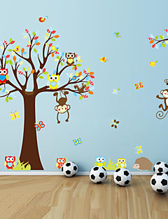 Wall Stickers Wall Decals, Style Squirrel Owl Monkey PVC Wall Stickers