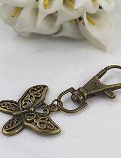 Moda unisex retro legure izvrtati leptir viseće keychains