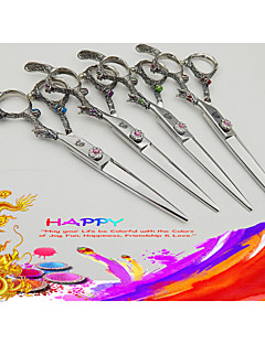 6.0 inch Japanese Hitachi 440C Steel High Quality Dragon Handle Hairdresser Scissors with gifts :  razor & clip & comb