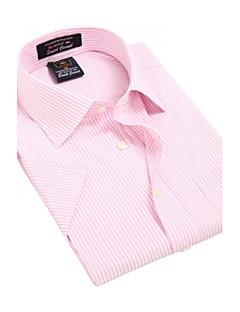 Masculino Camisa Casual / Escritório / Formal / Esporte Xadrez Manga Curta Poliéster Rosa
