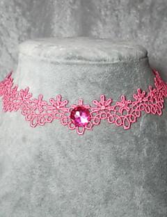 håndlaget elegant klassisk rosa lolita halssmykke