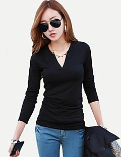 Långärmad T-shirt Kvinnors Polyester
