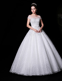 Ball Gown Floor-length Wedding Dress -Jewel Lace