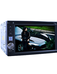 """6.2 """"2DIN LCD touch screen in-dash auto dvd-speler met stereo radio, dvd, sd, usb"""