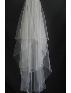 Voaluri Lungime Până la Vârfurile Degetelor ( Alb/Ivoriu/Bej , Tul , Stil cristale împrăștiate/Mărgea ) - Două Straturi -Margine cu