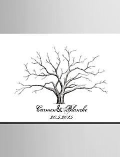 E-Home® personalisierten Fingerabdruck Malerei Leinwand - Rosa Baum (mit 12 Tintenfarben) Korallen Hochzeit