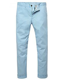 U-Shark Men's  Business Casual  &Fashion Cotton Thin Pants/Tousers Lake Blue Color