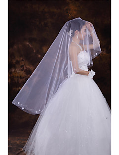 Wedding Veil One-tier Fingertip Veils Cut Edge