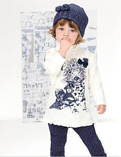 Conjuntos de roupas (de Misturas de algodão) - MENINA - Manga Curta - Médio - Micro-Elástico