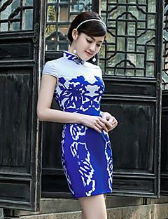 Dress Sheath/Column High Neck Short/Mini Satin Dress