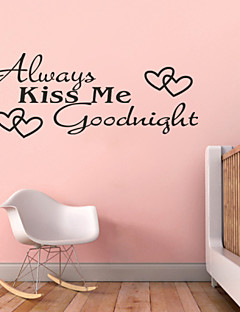 תמיד לנשק אותי zy8053 adesivo דה אמנויות ציור קיר לילה טוב ציטוטי Parede עיצוב בית מדבקות קיר ויניל