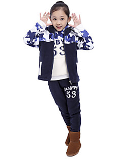 Girl's Winter Micro-elastic Medium Long Sleeve Clothing Sets (Cotton Blends)