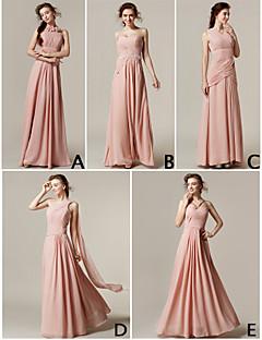 mélanger& robes de match-parole longueur chiffon robes de demoiselle d'honneur 5 modèles (3227693)