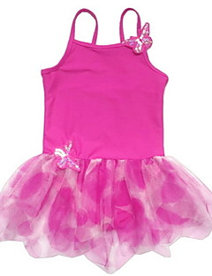 Ballet Dresses Children's Training Spandex / Polyester Appliques / Pleated 1 Piece Fuchsia / Green / Orange / Red /blue