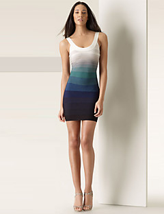 Alice&Elmer Rayon Short/Mini Gradient Sheath/Column Bandage Dress