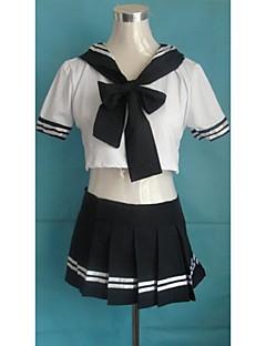 Saucy Girl Blue foncé et blanc Polyester Uniforme scolaire
