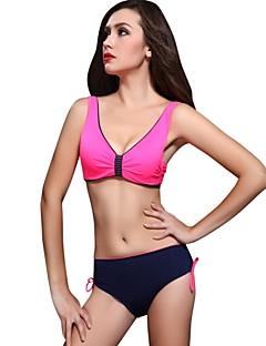 Egyszínű Megkötős Női Bikini , Push-up/Merevítős Melltartó Nejlon/Spandex