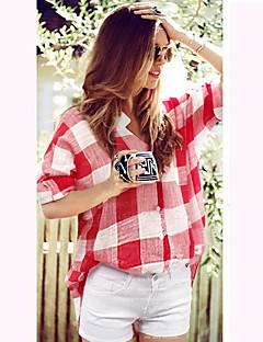 Informeel Shirt Kraag - VROUWEN - Vrijetijds shirts ( Polyester )met Korte Mouw