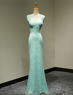 Formal Evening Dress - Pool Plus Sizes / Petite Sheath/Column Sweetheart Floor-length Lace