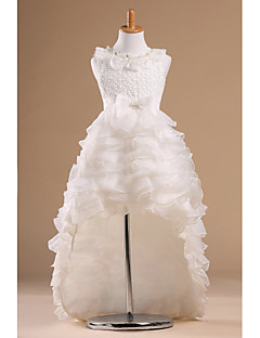 Prinses Kapel Sleep Bloemenmeisje jurk - Satijn/Tule Mouwloos