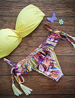 Women's Push-up/Underwire Bra Tassels/Solid Bikinis (Nylon)