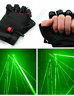 OXLasers  Green Laser Gloves for Laserman Show DJ with Green Led Palm Light and 4 Laser Pointer