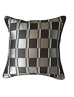 """super qualité couvercle noir / argent grille taie d'oreiller / coussin 18 """"x18"""" (45x45cm)"""