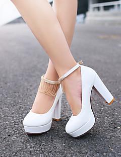 Scarpe Donna Finta pelle A stiletto Tacchi Scarpe col tacco Matrimonio/Formale Nero/Rosa/Bianco
