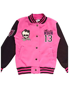 Retailed Kid Girl Monster High Skull Printed  Spring & Autumn Pink Coat /Jacket Outer Wear For SZ 6~10Years