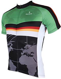 ILPALADINO חולצת ג'רסי לרכיבה לגברים שרוול קצר אופניים ג'רזי צמרותייבוש מהיר עמיד אולטרה סגול נושם חומרים קלים כיס אחורי מפחית שפשופים