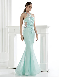 homecoming ts couture avondjurk - trompet / mermaid hoge nek vloer-length tule