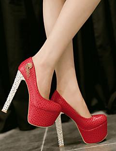 Chaussures Femme - Mariage / Soirée & Evénement - Rose / Rouge / Blanc - Talon Aiguille - Talons - Talons - Similicuir