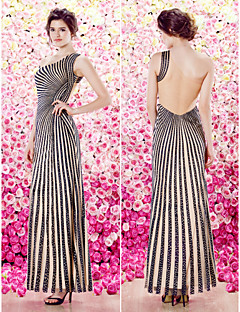 TS Couture Formal Evening Dress - Sheath/Column One Shoulder Floor-length Knit