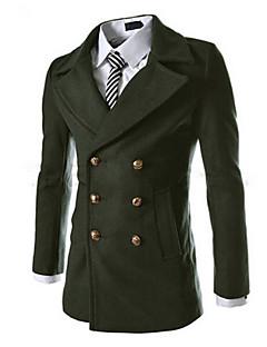 Повседневный - MEN - Пальто и жакеты ( Смешанная хлопковая ткань Как у рубашки - Длинный рукав