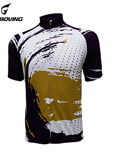 GETMOVING חולצת ג'רסי לרכיבה לנשים לגברים יוניסקס שרוול קצר אופניים ג'רזי צמרותייבוש מהיר עיצוב אנטומי עמיד אולטרה סגול חדירות ללחות