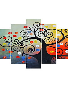 VISUAL STAR®Tree Stretched Canvas painting Print Set of 5 panel  High Quality Canvas Ready to Hang