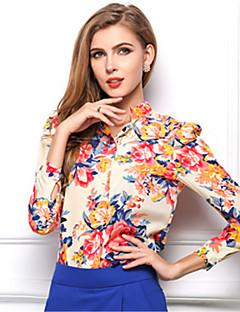Damen Hemd Polyester Langarm