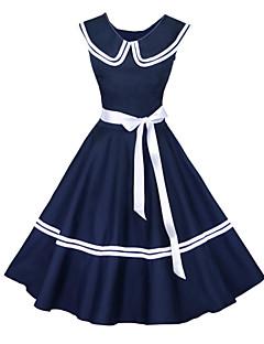 maggie tang kvinnors 50s vintage nautiska sjöman rockabilly hepburn pinup affärs swing klänning 526