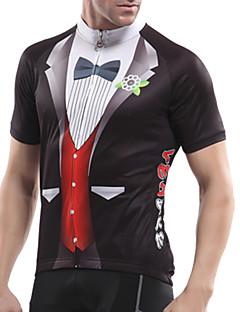 T-shirt -( Rouge/Bleu ) de Cyclisme - Respirable/Haute respirabilité (>15,001g)/Perméabilité à l'humidité/Séchage rapide/mèche/Compression