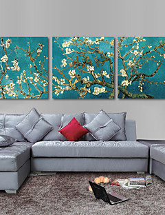 Set of 3 Stretched Canvas Print  Art Van Gogh Almond