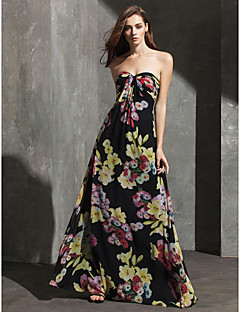 TS Couture Formal Evening Dress - Pattern Dress Sheath / Column Sweetheart Floor-length Chiffon with Pattern / Print