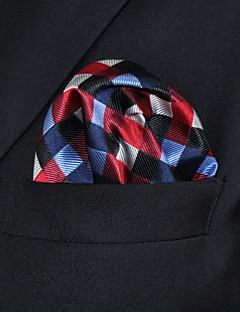UH2 Shlax&Wing Checked Red Blue Handkerchiefs Pocket Square Hankies Hanky