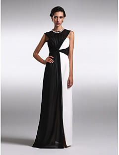 TS Couture® Formal Evening Dress - Multi-color Plus Sizes / Petite Sheath/Column Bateau Floor-length Chiffon