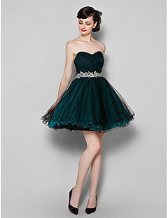 TS Couture Cocktail Party Dress - Dark Green Plus Sizes / Petite A-line Sweetheart Knee-length Tulle